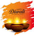 candles decoration to diwali light festival vector image vector image
