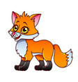 cartoon fox isolated vector image vector image
