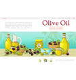 cartoon olive oil web page template vector image vector image