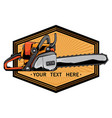 chainsaw logo vector image