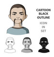 chinesehuman race single icon in cartoon style vector image vector image