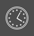 circular wall clock line icon outline sign vector image vector image