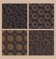 collection of abstract seamless patterns with vector image vector image