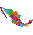 Colorful Mexico map vector image vector image