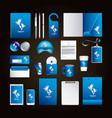 corporate identity template design with creative vector image vector image