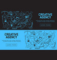creative agency website banner design with vector image vector image