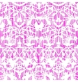 Damask pattern with abstract hand painted shapes vector image