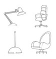 design of furniture and work icon vector image