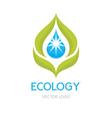 Ecology Concept - Logo vector image vector image