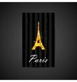 elegant black card with golden foil eiffe vector image
