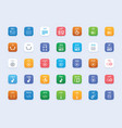 file types icon set vector image vector image