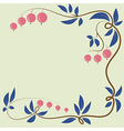 Floral berry background with berries and leaves vector image vector image