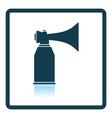 Football fans air horn aerosol icon vector image