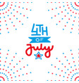 fourth july independence day salute decor of vector image