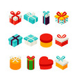 gift box isometric set vector image