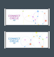 gorizontal template x-banner with abstract vector image