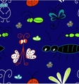Hand draw abstract seamless pattern of bugs vector image