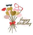 happy birthday design template vector image
