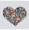 heart people sign 3d vector image vector image