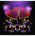 hearts and stars vector image vector image