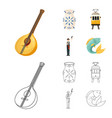 isolated object and historic symbol collection vector image vector image