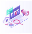 isometric design modern vector image vector image