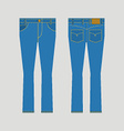 Jeans Front And Back View vector image