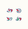 logo love bird icon line art picture vector image vector image