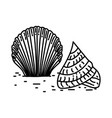 looking for shells icon doodle hand drawn or vector image vector image