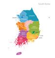 map south korea vector image vector image