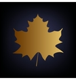 Maple leaf sign vector image