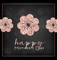 mothers day banner template with golden flowers vector image