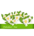 Nature Postcard with Chamomile Flowers for vector image