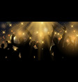 party banner design with stars and spotlights vector image vector image