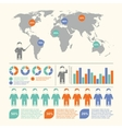 People infographic set vector image vector image