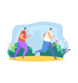 people runners jogging vector image vector image