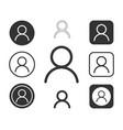 profile icon sign button set vector image vector image