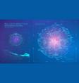 radar panel data intelligence matrix tech digital vector image
