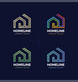 real estate logo home or house line logotype vector image vector image