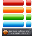 Rectangular glossy buttons vector image vector image
