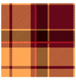 Reddish Tartan Cloth Pattern vector image vector image