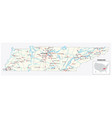 road map us american state tennessee vector image vector image