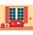 room interior with holiday gift vector image vector image
