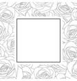 rose outline banner card vector image vector image