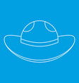 sea hat icon outline style vector image vector image