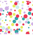 seamless pattern of multicolored circles digital vector image vector image