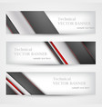 set banners with lines paper mesh business vector image vector image