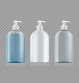 set bottles package with soap and empty vector image vector image