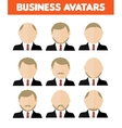 set business avatar businessman vector image