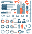 set infographic elements and icons vector image vector image